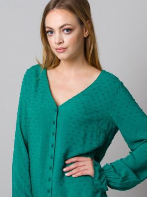 Zielona bluzka w serek