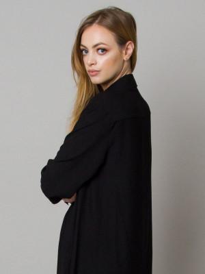 Czarna asymetryczna koszula nocna