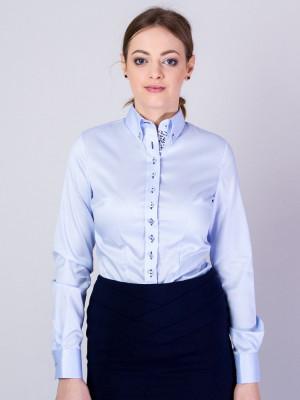 Błękitna bluzka z niebieskimi kontrastami