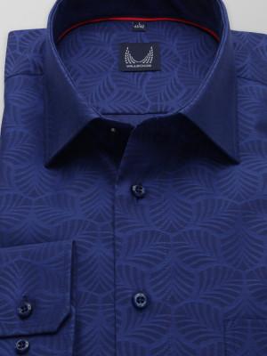 Klasyczna granatowa koszula w geometryczny wzór