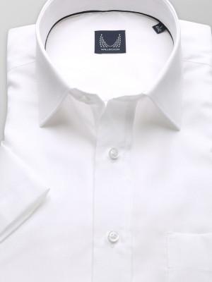 Biała klasyczna koszula w prążek