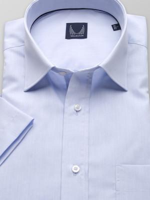 Błękitna klasyczna koszula z krótkim rękawem