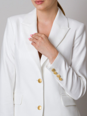 Biała klubowa marynarka damska