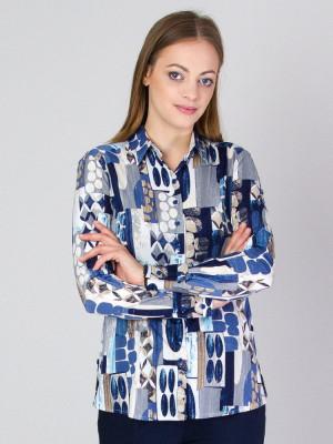 Bluzka dzianinowa oversize w geometryczne wzory