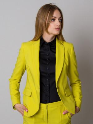 Limonkowy garnitur damski