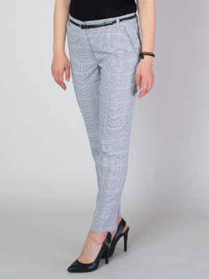 Spodnie garniturowe w pepitkę