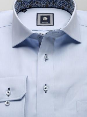Klasyczna jasnobłękitna koszula z kontrastami