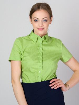 Zielona bluzka z krótkim rękawem