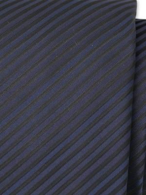 Klasyczny granatowy krawat w paski