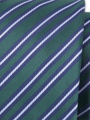 Klasyczny zielony krawat w paski