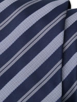 Klasyczny granatowy krawat w pasy