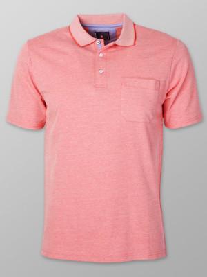 Koralowa koszulka polo