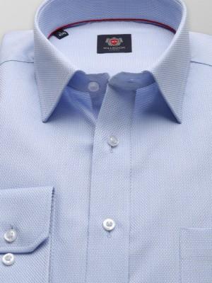 Klasyczna błękitna koszula w drobny wzór