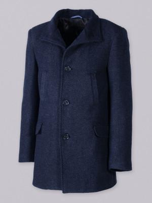 Antracytowy płaszcz jednorzędowy