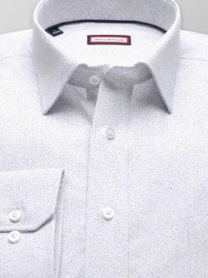 Biała klasyczna koszula w drobne kropki