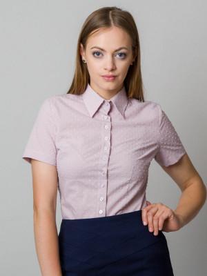 Różowa bluzka z krótkim rękawem
