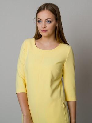 Żółta sukienka o luźnym kroju