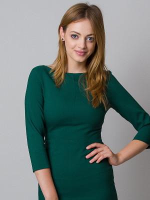 Zielona dopasowana sukienka