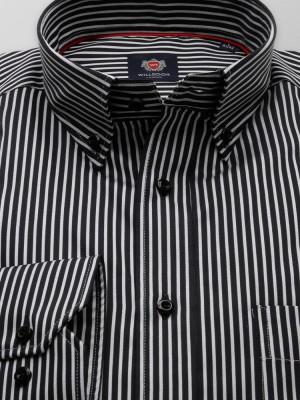 Czarna klasyczna koszula w paski