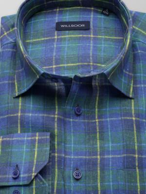 Klasyczna lniana koszula w kratę
