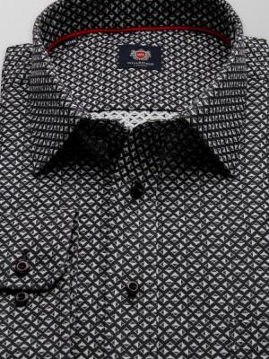 Klasyczna czarna koszula w romby