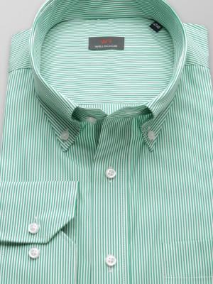 Zielona klasyczna koszula w paski