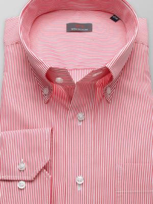 Czerwona klasyczna koszula w paski