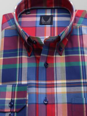 Klasyczna koszula w kolorową kratę