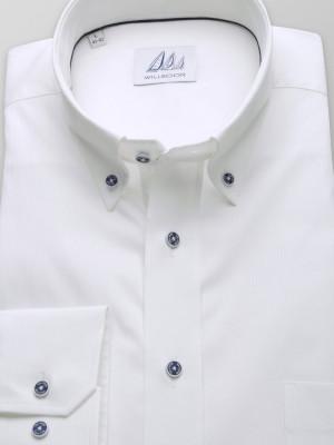 Biała klasyczna koszula w delikatny prążek