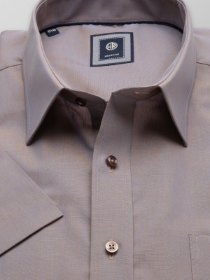 Jasnobrązowa klasyczna koszula