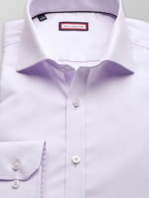 Wrzosowa koszula o mocno taliowanej sylwetce