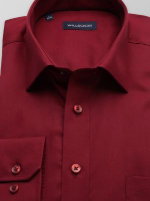 Bordowa klasyczna koszula