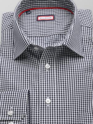 Granatowa klasyczna koszula w kratkę