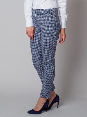 Spodnie garniturowe w kratkę gingham