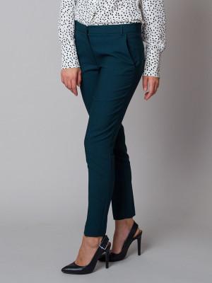 Zielone klasyczne spodnie garniturowe