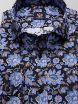 Taliowana koszula w kwiaty