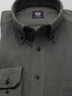 Czarna klasyczna koszula w drobny wzór