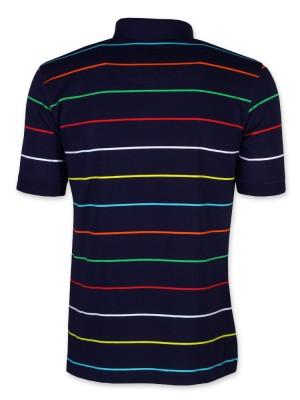 Granatowa koszulka polo w paski