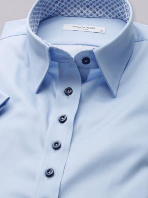 Błękitna bluzka z krótkim rękawem
