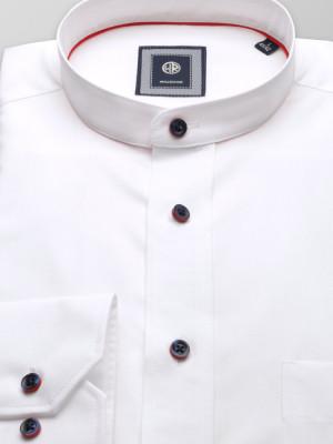 Biała klasyczna koszula ze stójką