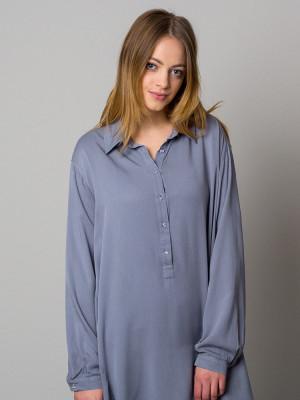 Szara asymetryczna koszula nocna