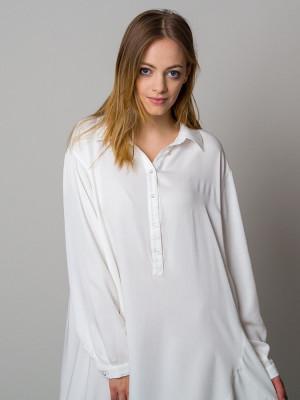 Asymetryczna koszula nocna ecru