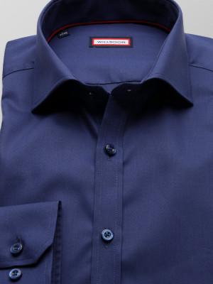 Granatowa koszula o mocno taliowanej sylwetce