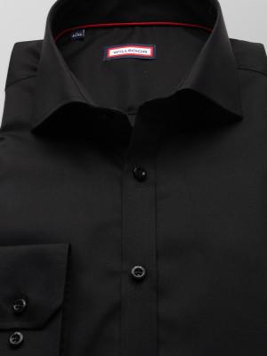 Czarna koszula o mocno taliowanej sylwetce