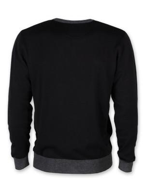 Cienki czarny sweter męski
