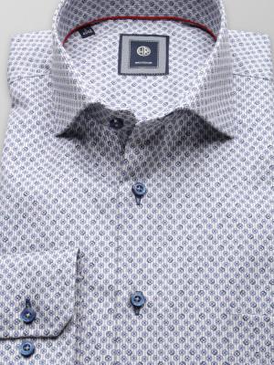Klasyczna koszula z prążek i kwiatki