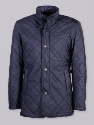 Ciemnogranatowa kurtka pikowana