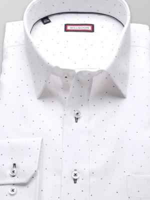 Biała klasyczna koszula w kropki