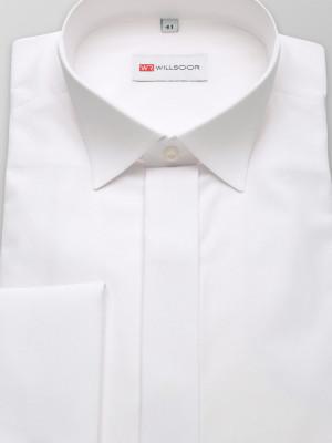 Biała klasyczna koszula smokingowa