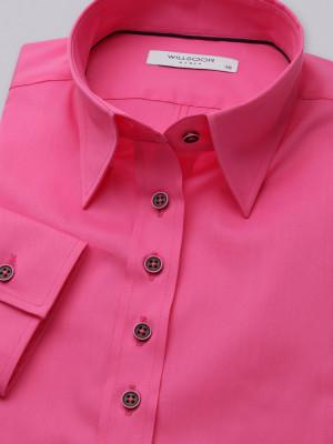 Różowa gładka bluzka